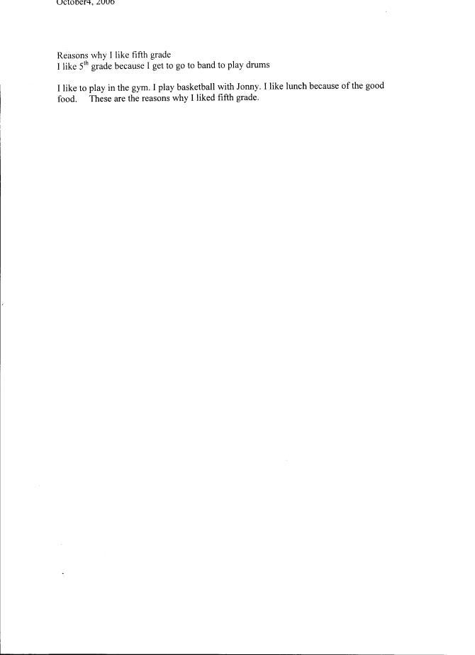 Power Writing (Sample 3)