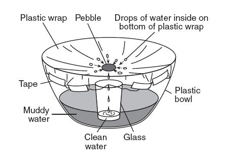 base your answers to the following question on the diagram below and on  your knowledge of science  the diagram shows a model of the water cycle