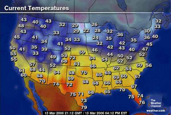 Current Us Temperature Map Uptowncritters